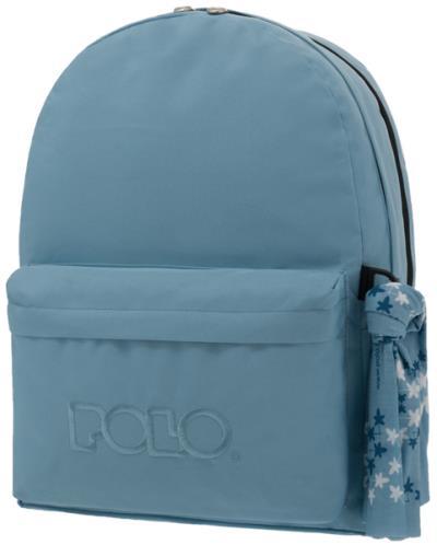 c52bc78bec POLO Σχολική τσάντα πλάτης DOUBLE SCARF Γαλάζια 901235-08 2019