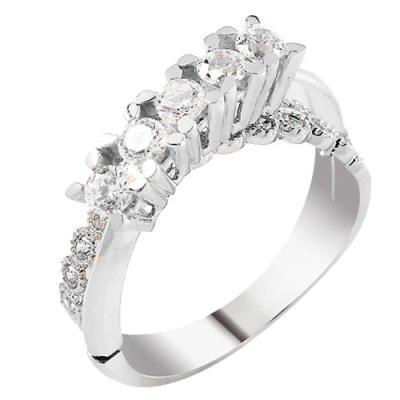 Λευκόχρυσο σειρέ δαχτυλίδι Κ14 με ζιργκόν 0a3e1753fe8