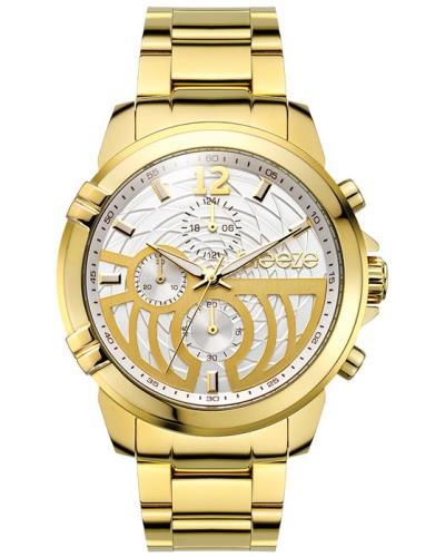 BREEZE StyleGazer Chrono Gold Stainless Steel Bracelet 6a7bd343383