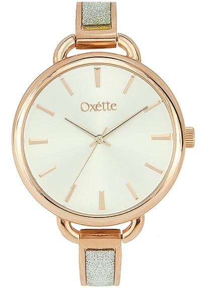 OXETTE Link Rose Gold Glittering Stainless Steel Bracelet 11X05-00484 028195d94f9