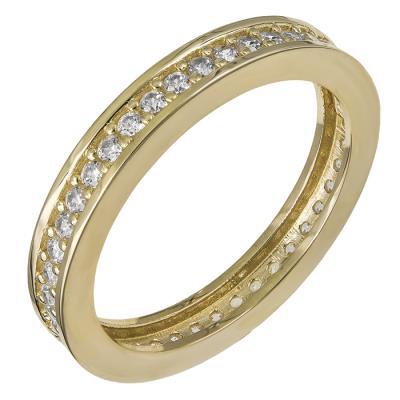 Χρυσό δαχτυλίδι Κ14 ολόβερο με ζιργκόν 030463 030463 Χρυσός 14 Καράτια 0190837cb31