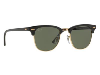 c85a00a8d7 Γυαλιά ηλίου Rayban ClubMaster 3016 W0365 Μαύρο Πράσινος(W0365) Κρύσταλλο