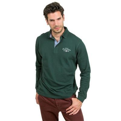 368f18263338 Ανδρικό Μακρυμάνικη Μπλούζα με Γιακά POLO DOUBLE GS-36 Πράσινο