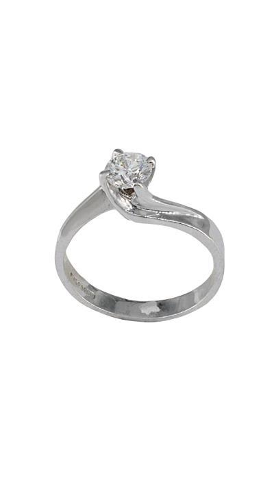 Δαχτυλίδι μονόπετρο λευκόχρυσο 18 καράτια με μπριγιάν 0.64ct ce974a2d1ff