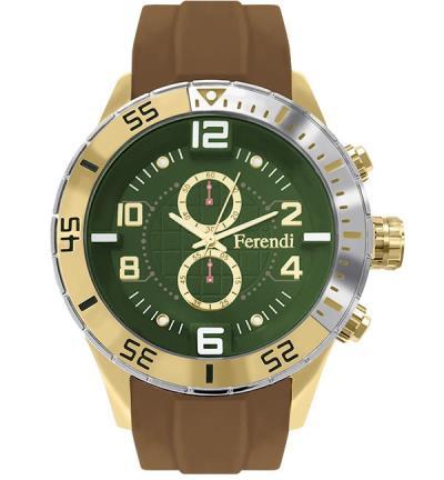 Ρολόι Ferendi Decerto 1401-208 Μπεζ Λουράκι Σιλικόνης 1ddd452abdd