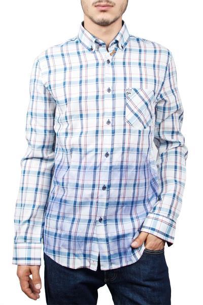 Missone ανδρικό πουκάμισο καρό λευκό-μπλε - ms-922-wh-bl 5fe9f101ed4