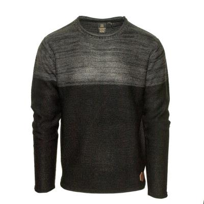 6592bab880b1 71427-01 Ανδρική πλεκτή μπλούζα - Ανθρακί Μαύρο
