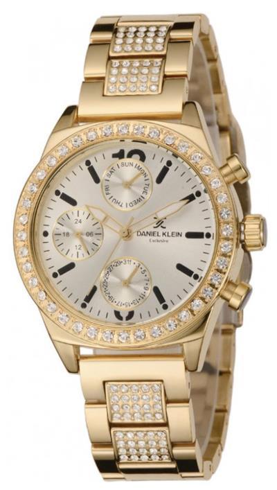 Ρολόι Daniel Klein exclusive με χρυσό μπρασελέ και ημερομηνία DK10706-2 c3c398b8962