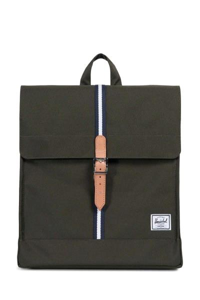 f968de356be City Offset mid volume backpack forest green/leather - 10089