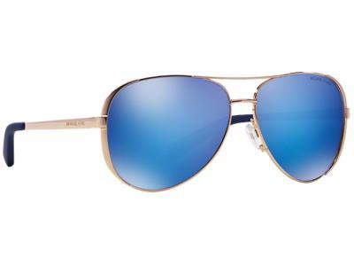 9abe27e3c0 Γυαλιά ηλίου Michael Kors MK 5004 Chelsea 100325 Ροζ Χρυσό Γαλάζιος  Καθρέφτης (1