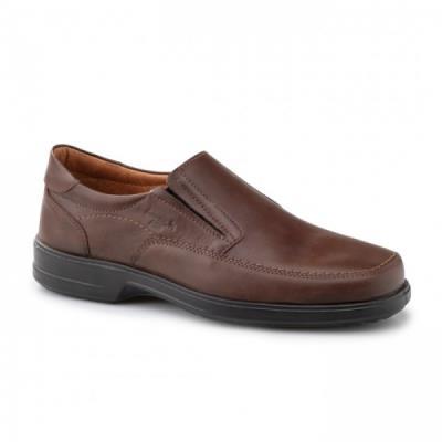 5fb34e97752 <b>Μοκασίνια δερμάτινα</b> ανατομικά ανδρικά παπούτσια Boxer 13753 καφέ.  ΑΝ-0052