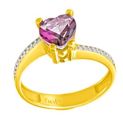 Χρυσό μονόπετρο δαχτυλίδι Κ14 με ορυκτή πέτρα SWAROVSKI be9f06db9eb