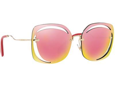 Γυαλιά ηλίου Miu Miu MU 54SS ZVN 5L2 Χρυσό Ροζ Ροζ Κίτρινος Καθρέφτης  (ZVN 5L2) 0bd683c88ad