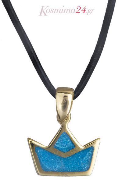 Κολιέ καραβάκι με σμάλτο Κ14 019625 019625 Χρυσός 14 Καράτια c4a1128fc61