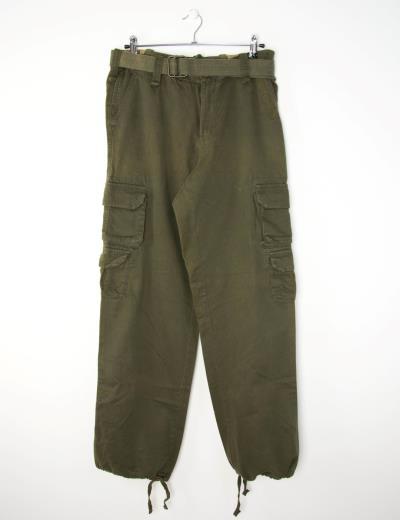 Ανδρική χακί παντελόνα τσέπες στο πλάϊ TAKEFIVE2 b6b990a8b34