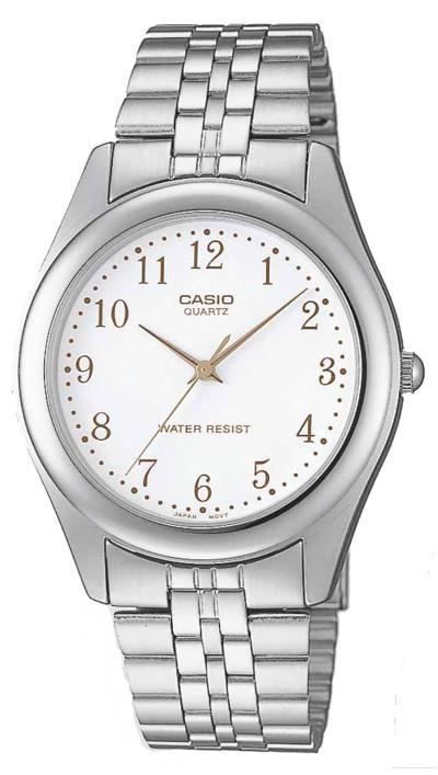 Ρολόι Casio Collection με ασημί μπρασελέ και λευκό καντράν MTP-1129PA-7BEF 3257dc7f57e