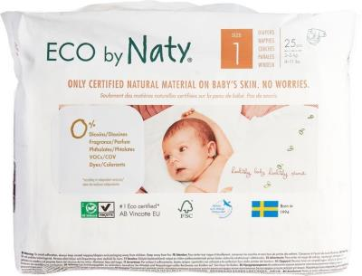 0e035f756e2 Naty Eco Πάνες - Μέγεθος 1 για Νεογέννητα. 2-5 kg, 26 Τεμάχια