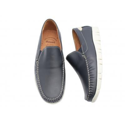 578573861c0 <b>Μοκασίνια δερμάτινα</b> ανατομικά ανδρικά παπούτσια Boxer 21142 μπλε.  BOXER-2