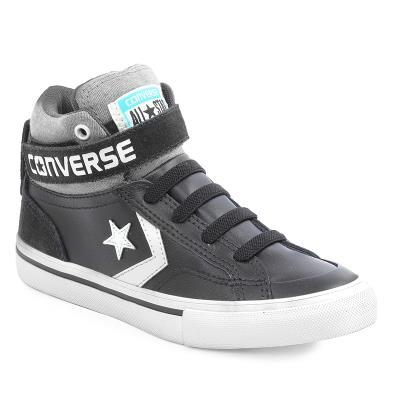 Παιδικά Προπαιδικά Παπούτσια Converse Pro Blaze Strap Hi Black Storm  wind Egret 004e5cc0dc7