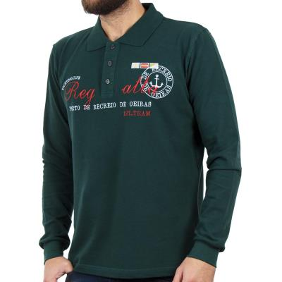 b7bf433f4e69 Ανδρικό Μακρυμάνικη Μπλούζα με Γιακά POLO CARAG PIQUE 99-505-19N Πράσινο
