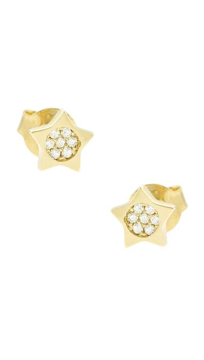 Παιδικά σκουλαρίκια χρυσά 14 καράτια αστέρια με ζιργκόν 28c4574912e