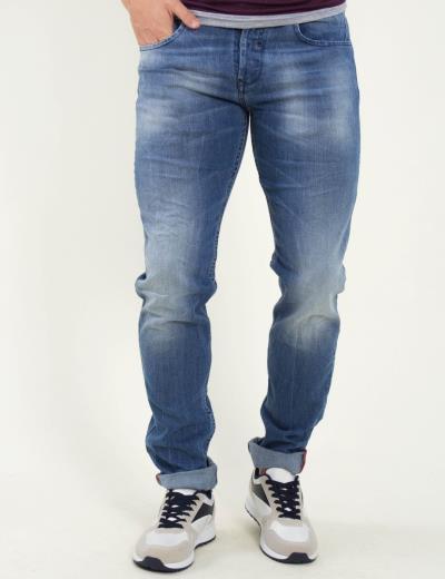 240e83c4c62f Ανδρικό μπλε τζιν παντελόνι με ξέβαμμα Trial 19simona
