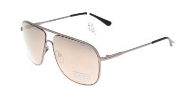 d19cb19590044 Sunglasses Tom Ford Dominic TF 0451 S 09C Men Silver Square Gold Mirrored