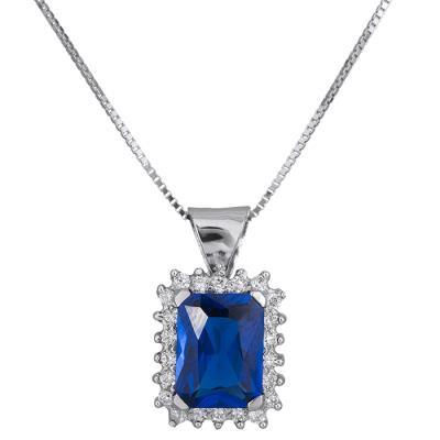 Χρυσό κολιέ Κ14 με μπλε πέτρα 028956 028956 Χρυσός 14 Καράτια 8984f6347ff