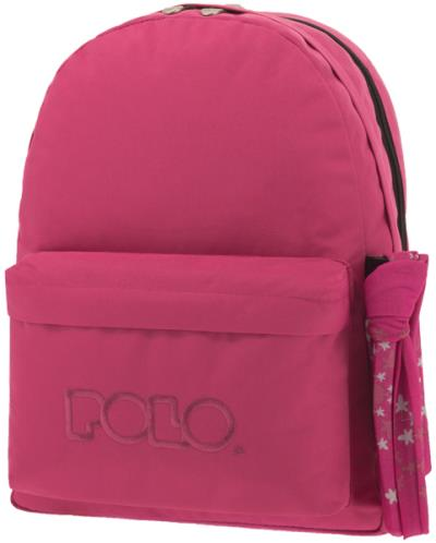 6e3a81b935 POLO Σχολική τσάντα πλάτης DOUBLE SCARF Φούξια 901235-29 2019