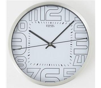Ρολόι τοίχου λευκό Espiel DAN105 78ff1a534d8