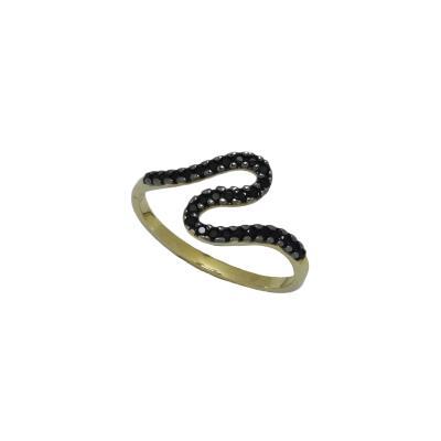 Γυναικείο Δαχτυλίδι 14Κ Κίτρινο Χρυσό σχήμα