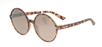 afbe519157 Sunglasses Pepe Jeans Pat PJ 7271 C1 Unisex Grey Round Gold Mirrored