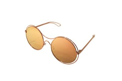 b84ffa239b Sunglasses Charlie Max CM SOLARI GRP23 Women Gold Round Purple Mirrored