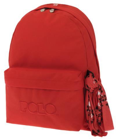 18be8bccd1 Σχολική τσάντα POLO CLASSIC με Μαντήλι κόκκινο της φωτιάς 9-01-135-14 (2018)