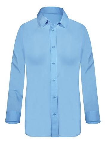 fb38bc70bc22 Γυναικείο μακρυμάνικο πουκάμισο Fageo γαλάζιο