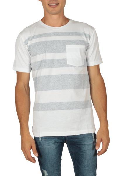 2ed202c175a9 Minimum Kintara ανδρικό t-shirt λευκό-μπλε - 133180254-bl