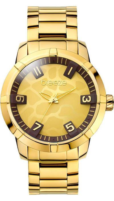 Ρολόι BREEZE safari chic με χρυσό μπρασελέ 210381.2 877e99a3733