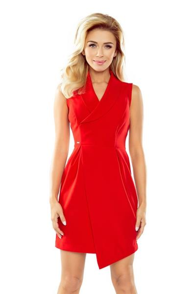 e7775a5bd0a 70132 NU Μίνι φόρεμα με όμορφο ντεκολτέ - κόκκινο