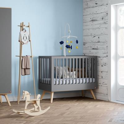 0c86d3409f6 Bebejou - Βρεφικό κρεβάτι Nature Baby Graphite/Oak 0.60 x1.20