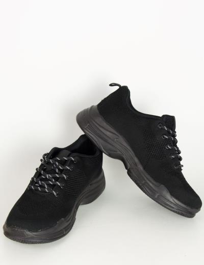 Ανδρικά μαύρα αθλητικά παπούτσια με αερόσολα 6679 3a013a6dce6