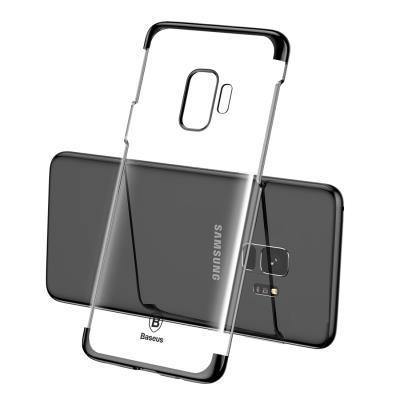 Baseus Glitter Hard Slim Case Transparent   Black (Samsung Galaxy S9) 654b7efdf0e