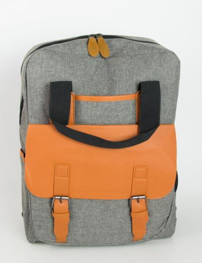 Ανδρικό γκρι στρογγυλό Backpack μονόχρωμο 1205 b49ecb31567