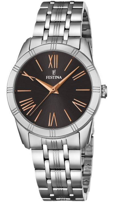 Ρολόι Festina με ασημί μπρασελέ F16940 3 e00d7d6179f