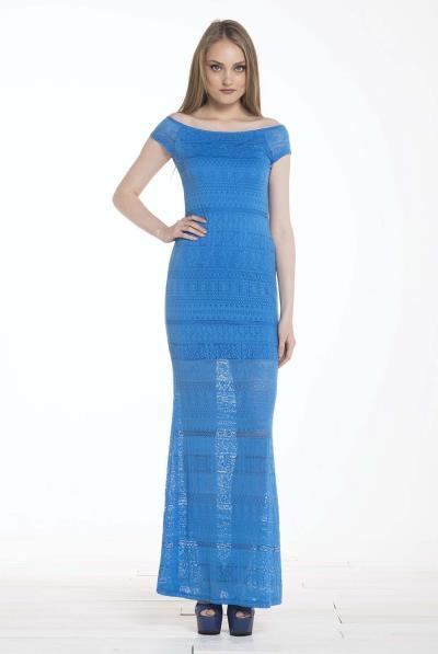 Φόρεμα maxi δαντέλα γοργονέ - 16111 645ac8d2669
