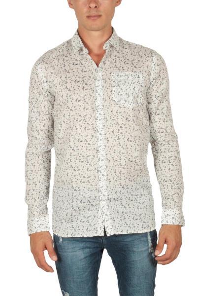 Minimum Tramonto πουκάμισο λευκό μπλε πριντ - 140590064-wh 120c962517f