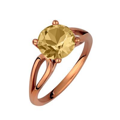 Μονόπετρο δαχτυλίδι σε ασήμι 925 με Citrine πέτρα SWAROVSKI AD-V16101CR1 330109bde9d