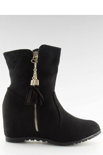 Μποτάκια με κρυφό τακούνι - Μαύρο. Άμεσα διαθέσιμο. fashioneshop.gr ... 09cf8035ecb