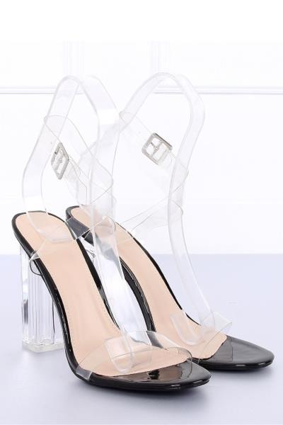 Ψηλοτάκουνα πέδιλα με διάφανο τακούνι - Μαύρο. Άμεσα διαθέσιμο. fashioneshop.gr  ... 945d52a699b