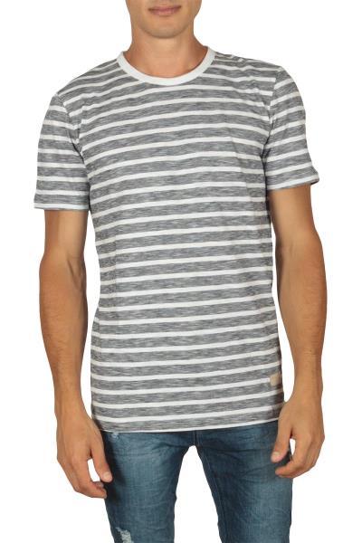 3fdad99c475a Minimum Johnston ανδρικό ριγέ t-shirt λευκό-μπλε - 133150259-bl