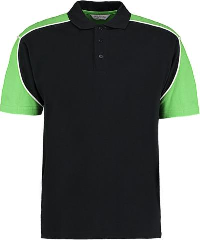 67db3d63bc43 Formula Racing Monaco Polo Shirt Kustom Kit KK611 - Black Lime White